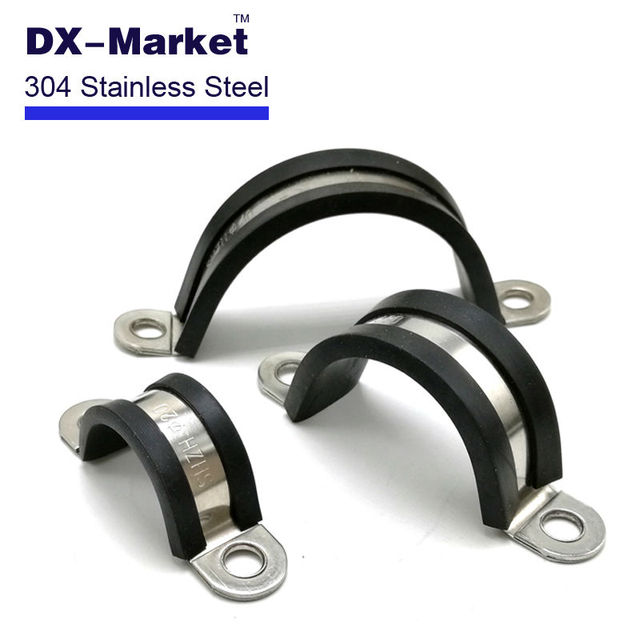 Mm saddle clamp rubber lined hose