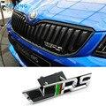 Car Styling 3D Sticker VRS Emblem Decal Grille Chrome RS Badge for Skoda Octavia A7 2 A5 Fabia Rapid Yeti Superb 2 Felicia 1 3