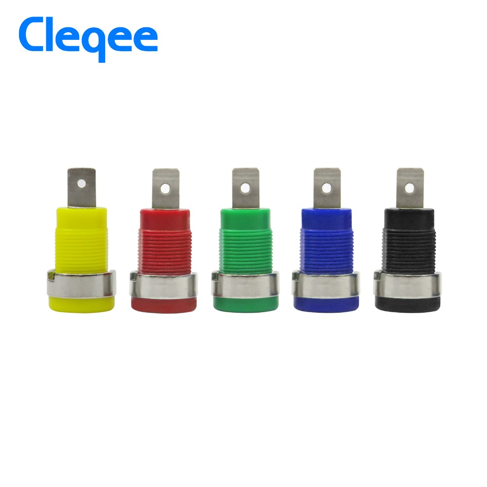Cleqee P3007 10pcs / set 5 Color 4mm Niquelado Enchufe Post Banana - Instrumentos de medición - foto 6