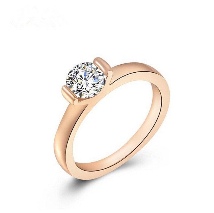 fashion women Fashion rings New Women Engagement big bling Crystal ...