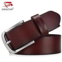 SWORDFISH Designer Belts Men High Quality Luxury Brand Leather Belt Pin Buckle Black Trouser Strap Brown