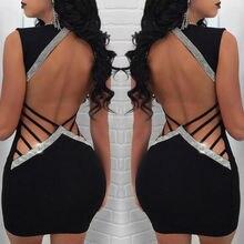 Bandage Bodycon Sleeveless Backless Party Dress