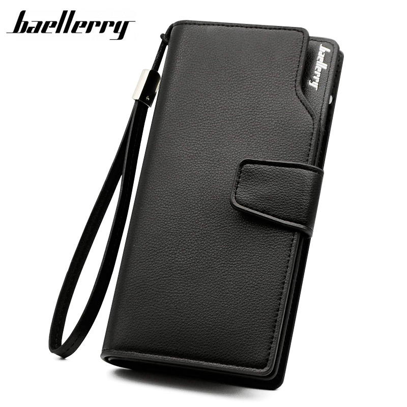 BAELLERRY Men Wallets Casual Fashion Wallet Long Male Purses Clutch bag Brand Leather Wallet Credit Card Holders Gift For Men famous brand leather wallets men small casual vintage short purses male credit card holders hot sale creative design money bags