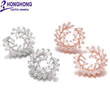 Honghong высококачественные серьги гвоздики в западном стиле