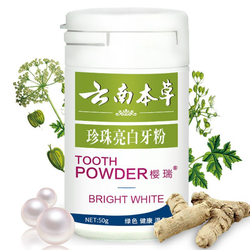 Herbal Tooth Powder Toothpaste Detal Teeth Whitening Care Yellow Tooth Smoke Stains Removal Bright WD