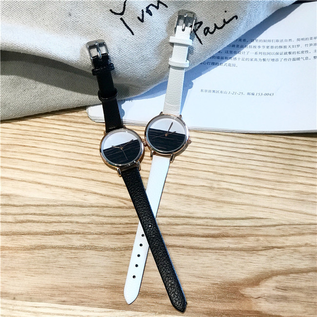 Futuristic Unique Stitching Colors Women Simple Quartz Watches Cool Leisure OL Style Ladies Slim Wristwatch Female Dress Watch