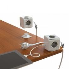 F13673 Allocacoc Extendida PowerCube Socket Adaptador DE Enchufe 4 Salidas Dual USB con 1.5 m Cable de Extensión Adaptador de Enchufe Domótico