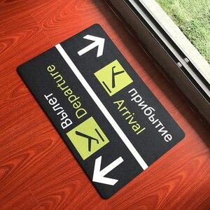 Image 2 - مضحك دواسة باب الطائرات وصول رحيل داخلي في الهواء الطلق مدخل ديكور ممسحة مخصص المطاط المضادة للانزلاق