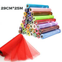 29CM X 25M Tulle Roll Organza Roll Red Blue Tulle Organza Fabric Decoration For DIY Girls Tutu Skirt Gift Wedding Party Decor