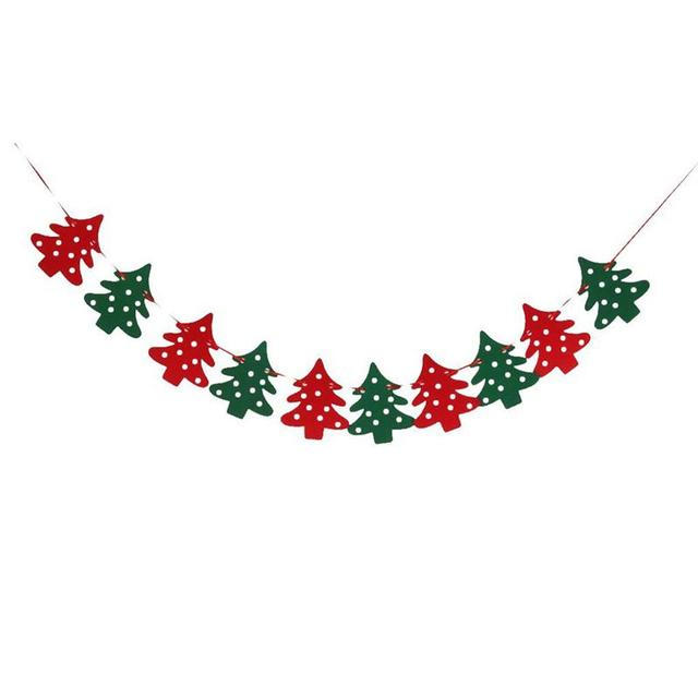 Merry Christmas Tree Banner Bunting Flags Xmas Window Tree Outdoor ...