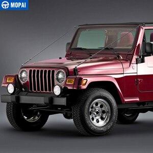 Image 3 - MOPAI Protettiva Cornici per Jeep Wrangler TJ 1997 2006 Cappuccio Chiusura Ostacolo Eliminare Corda Arto Riser Kit per Jeep accessori