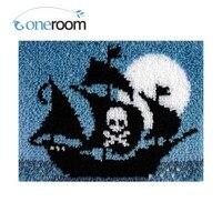 Oneroom A Pirate Boat Hook Rug Kit DIY Unfinished Crocheting Yarn Mat Latch Hook Rug Kit