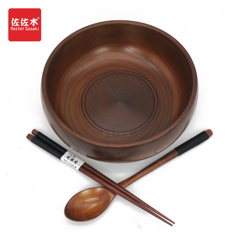 Купить с кэшбэком Direct sale of factories chinese/asian/japanese east style Large size Rice/Noodles/Sushi/Food/Sugar/Soup/Fruits wood bowl18-23cm