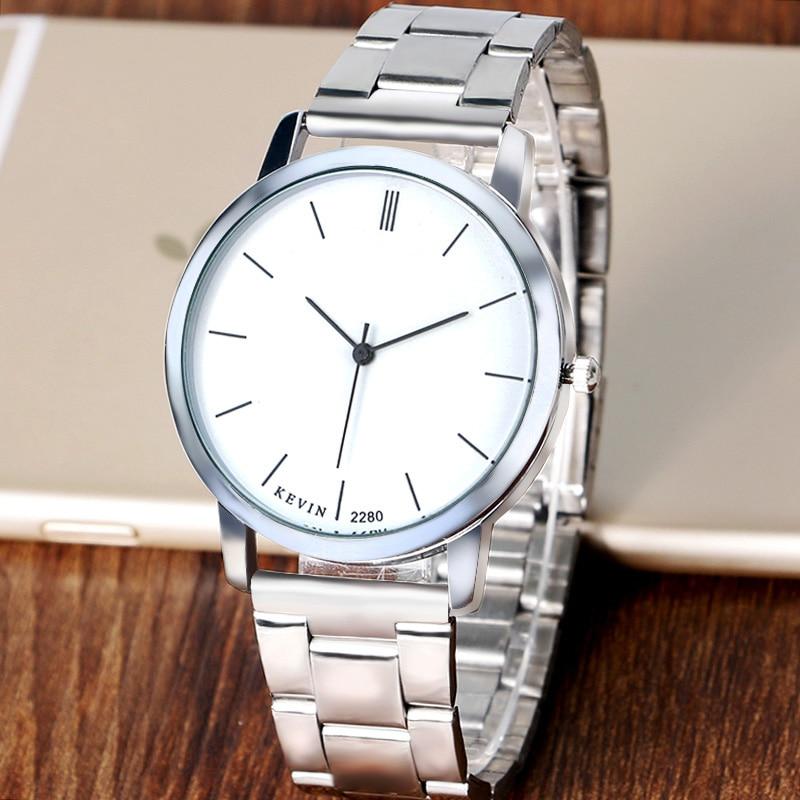 Enkel stil KEVIN Klocka Kvinnor Quartz Armbandsur Kvinnor Lady Girl Casaul Armbandsur Gift relogio feminino W22090