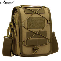 SINAIRSOFT Military Tactical Messenger Bag shoulder Nylon Outdoor Sport Fishing Camping Crossbody Mutil-function Molle Pouch