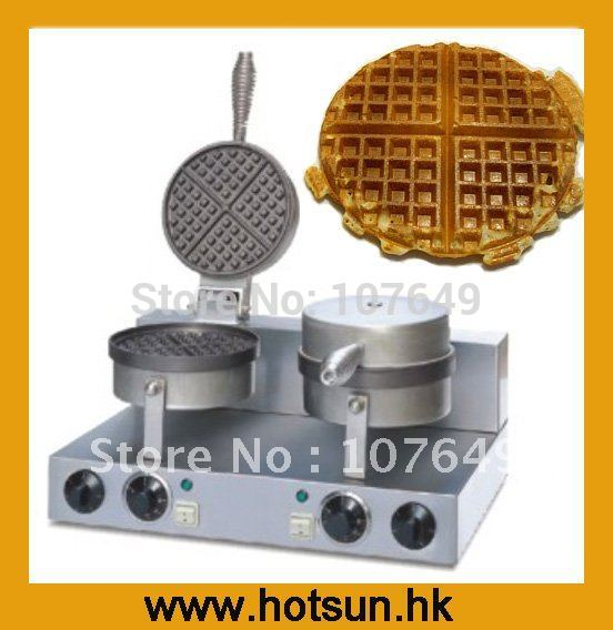 2-Head 110V 220V Commercial Use Electric Belgian Liege Waffle Baker  Maker Machine 110v 220v electric belgian liege waffle baker maker machine iron