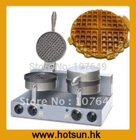2-Head 110V 220V Commercial Use Electric Belgian Liege Waffle Baker  Maker Machine