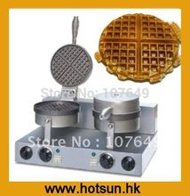 2-Head 110V 220V Commercial Use Electric Belgian Liege Waffle Baker  Maker Machine