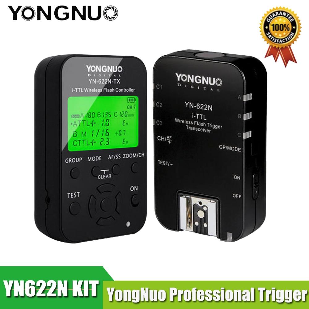 YONGNUO YN622N-TX-styrenhet + YN-622N Transceiver YN622N-KIT Trådlös TTL HSS-flashutlösarsats för Nikon och YN586EX YN685N