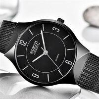 Reloj Hombre NORTH часы мужские Ультра тонкие мужские s часы лучший бренд класса люкс кварцевые часы со стальным сеткой модные повседневные спортив