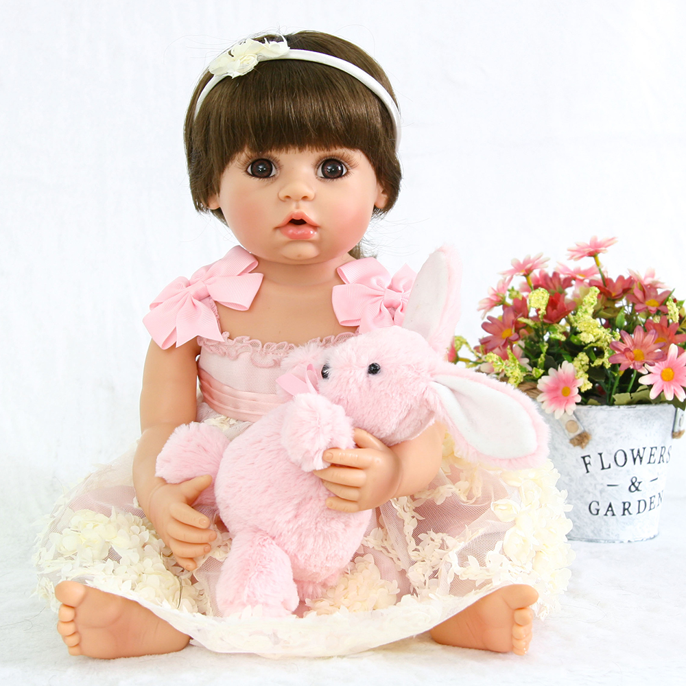 Baby Alive Collection Doll Reborn Full Body Silicone Doll Toys Lifelike Toddler Princess Girl for Children Girl Bedtime Doll Toy adorable soft cloth body silicone reborn toddler princess girl baby alive doll toys with strap denim skirts pink headband dolls