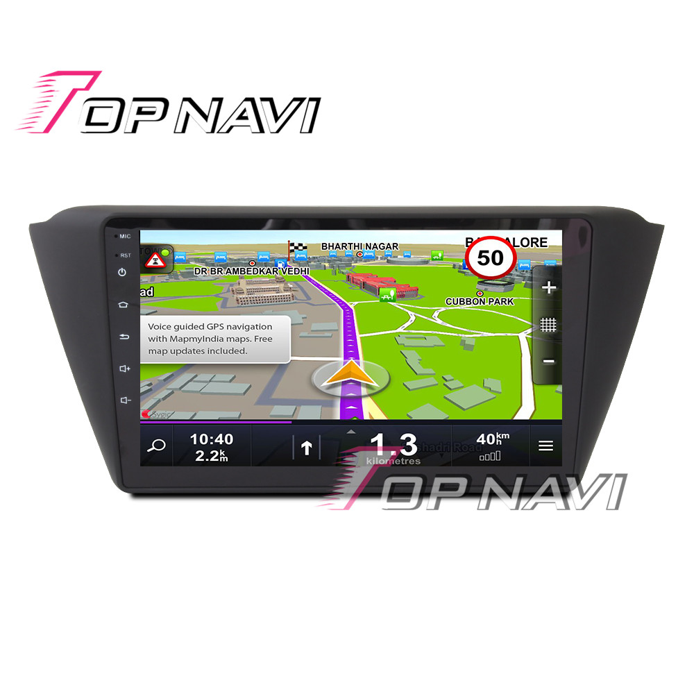 Купить с кэшбэком TOPNAVI 8'' Quad Core Android 6.0 Car GPS Navigation For Skoda Fabia Scout 2014 2015 Radio Audio Multimedia Stereo Without DVD