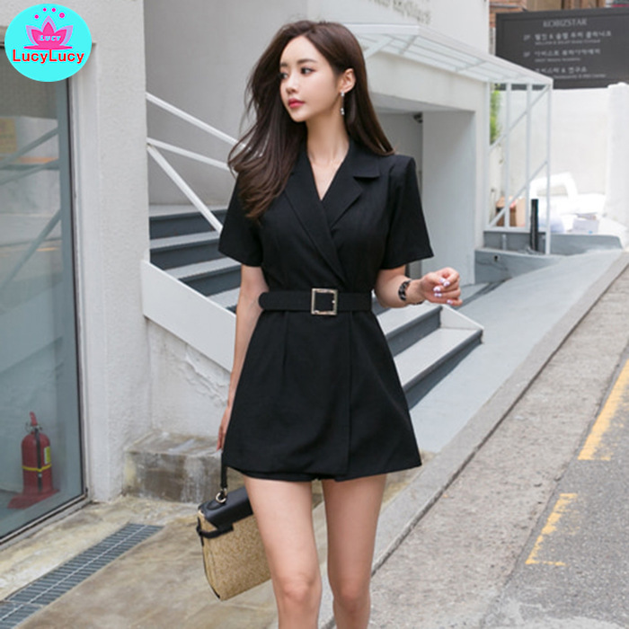 2019 Summer New Fashion Waist Linen Material Workmanship Suit Slimming Shorts Shorts Women Sashes  Solid  Regular  Casual