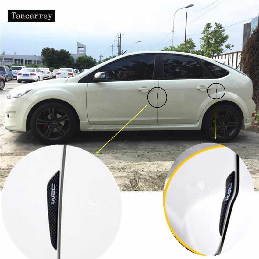 2017 PINTU MOBIL melindungi stiker UNTUK Nissan Qashqai x-trail Tiida Teana Juke Catatan Almera Primera aksesoris