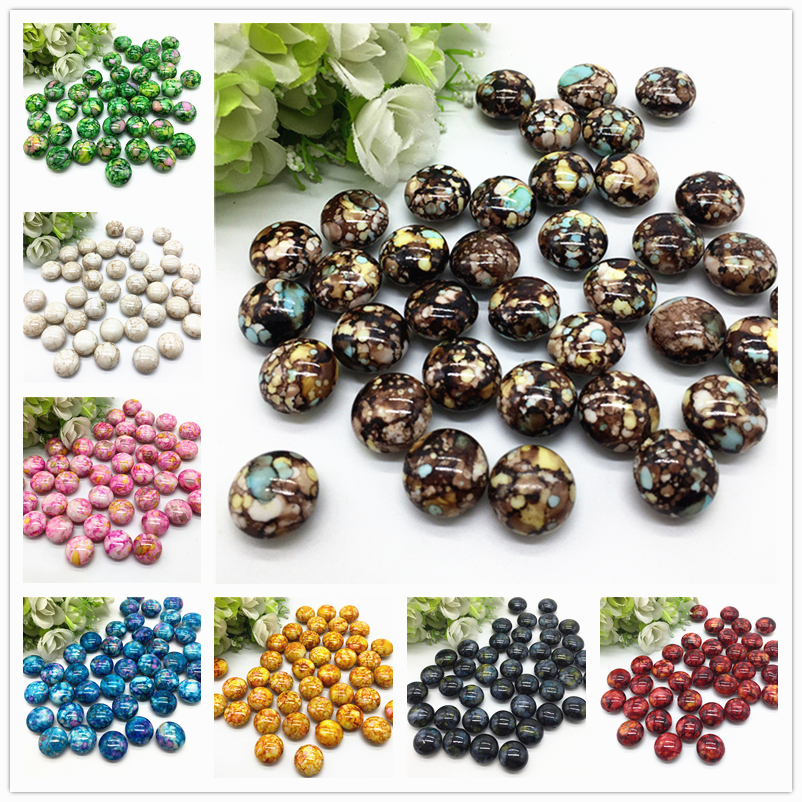 10pcs 16*16*10mm Oval Shape Crack Acrylic Beads Spacer Loose Bead For Jewelry Making Accessory Beads DIY #YKL(China)
