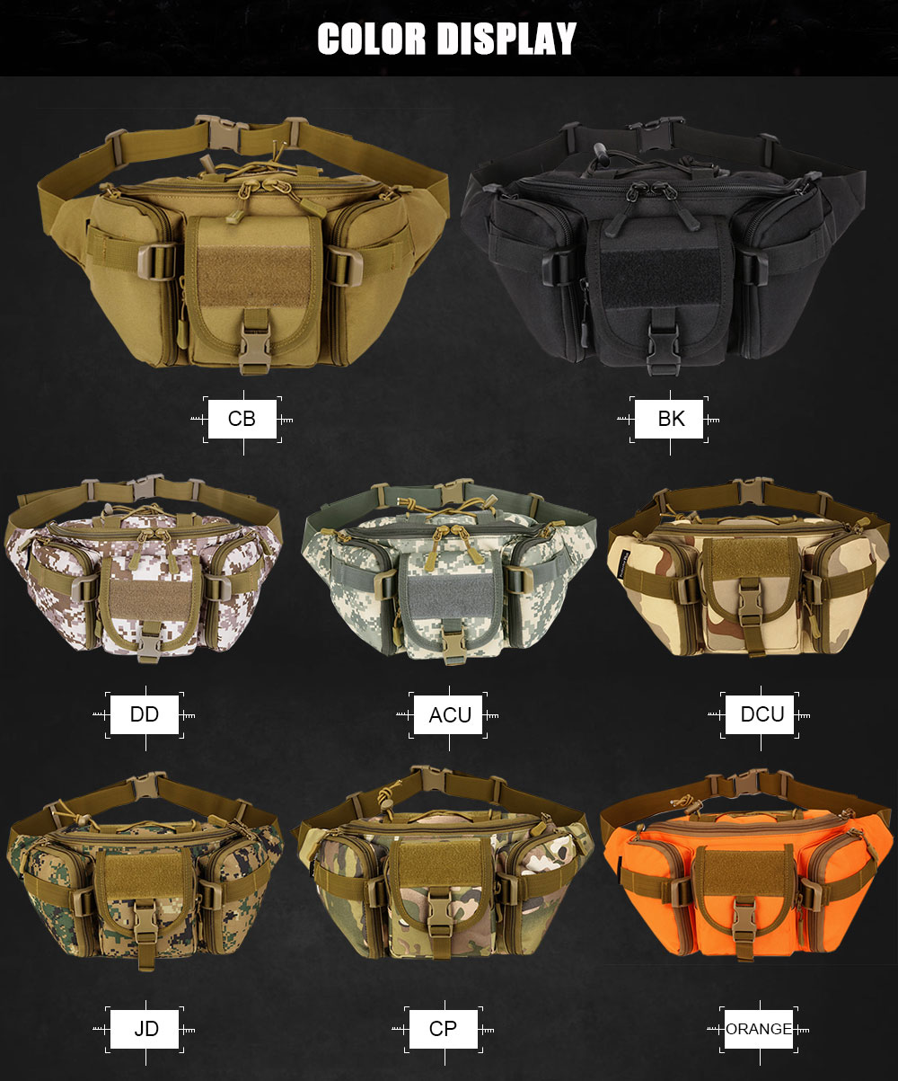 New Hip Packs Outdoor Pack Waterproof Bag Tactical Waist Bag Molle System Pouch Belt Bag Sports Bags Military First Aid Kits