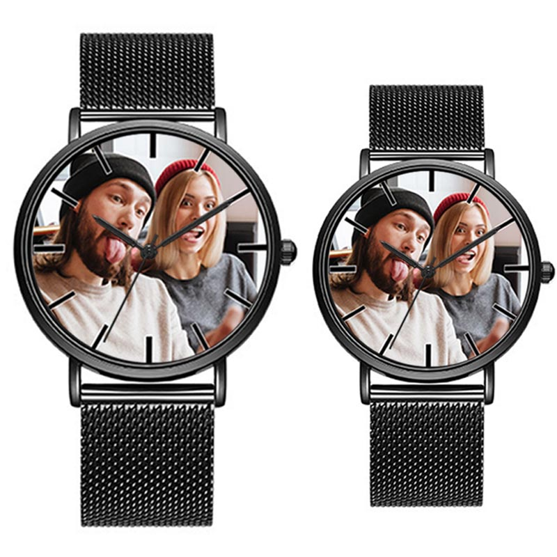 A3321w Creative Wrist Watch Put With Your Own Photo Design Buyer's Logo Alloy Strap Black Casual Sport Lovers 2018 Fashion