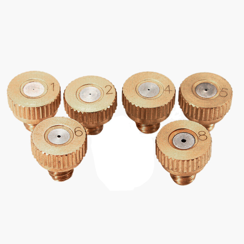 Strong-Willed E259 Brass With Nickle Plated Body Stainless Steel Orifice Antidrip Fog Misting Metal Nozzle 0.05-0.3mm Orifice Back To Search Resultshome & Garden