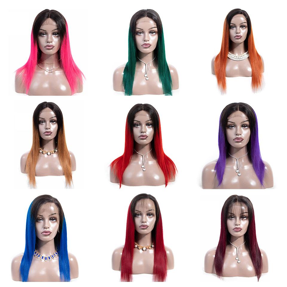 Alimice 180% цветной розовый/блондинка/красный/синий/оранжевый Искусственные парики короткие Ombre синтетические волосы на кружеве человеческие в...