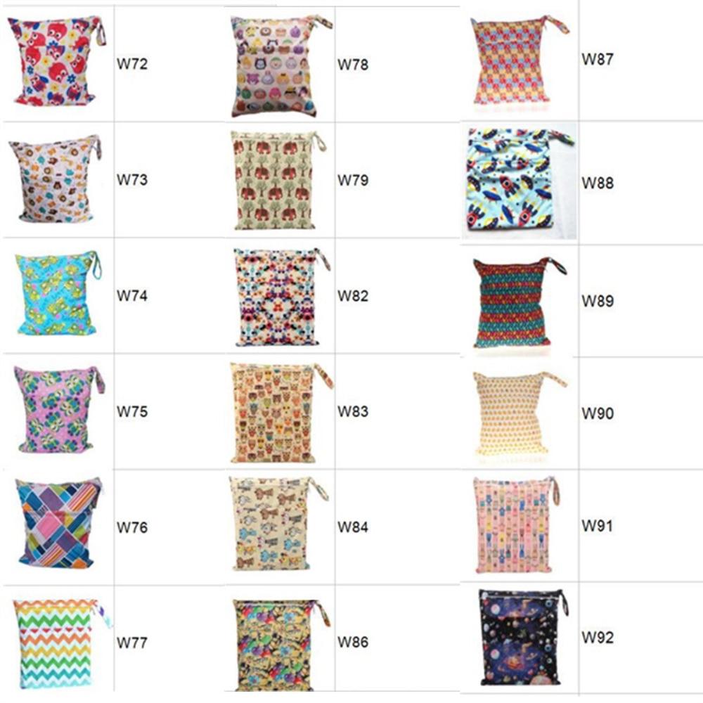 HTB1QImgXh rK1RkHFqDq6yJAFXa0 [Sigzagor]Wet Dry Bag With Two Zippered Baby Diaper Bag Nappy Bag,Waterproof Reusable 36cmx29cm Owl&Tree 100 Designs