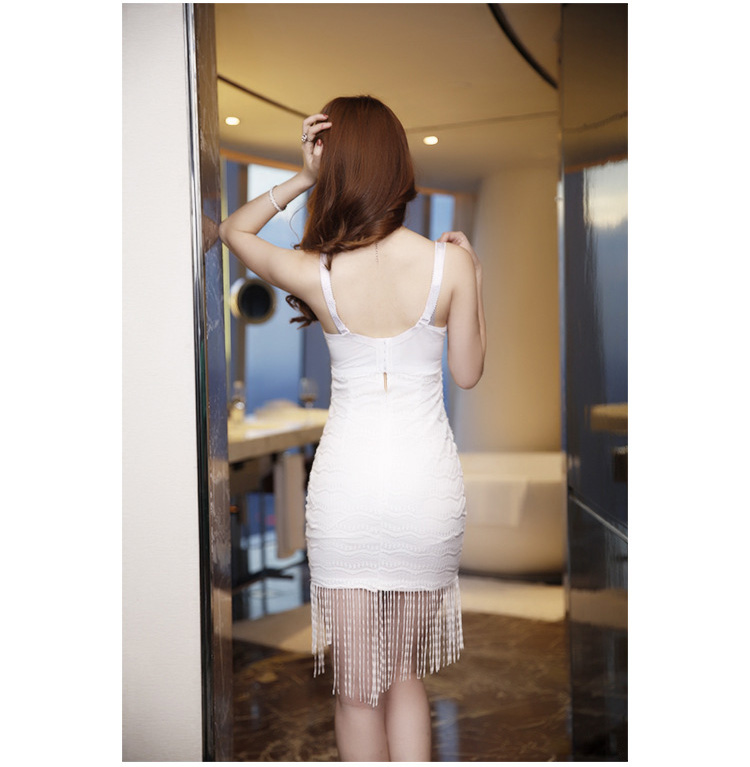 4f79f951a96 Rot Nude Sexy Quaste Kleid Damen Pin Up Plunge V ausschnitt Spitze Saxy Tau  Spaltung Mini Mantel Kleid Zeigen Brust drapierte Club Kleid in Rot Nude  Sexy ...