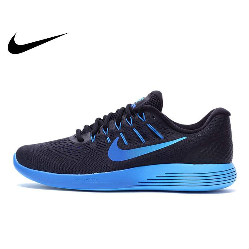 Original NIKE Official Breathable LUNARGLIDE 8 LUNAR Men's Running Shoes Sneakers Outdoor Walking Jogging Athletic Durable