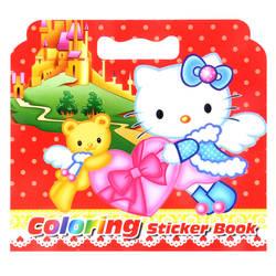 16 страниц новый милый KT кошка окраска Стикеры книги для детей и взрослых снять стресс убить время граффити Живопись Рисунок Книги по