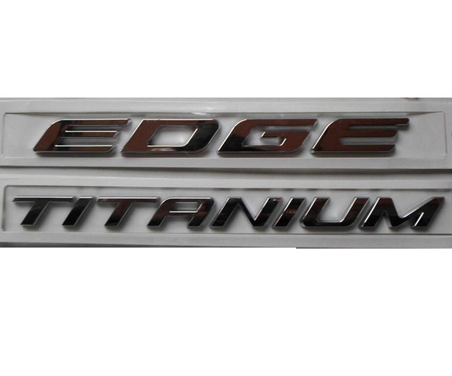 EDGE TITANIUM Chrome ABS Car Trunk Rear Number Letters Badge Emblem Decal Sticker for Ford
