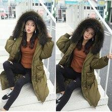 Средства ухода за кожей для будущих мам зимняя куртка пуховая куртка Женщины длинный участок свободный толстом натуральном меховой воротник взгляд тонкие теплые пальто беременных женщин серый