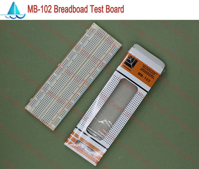 MB-102 Solderless Prototype Breadboard MB102 DIY Develop Test PCB Pitch:2.54MM 830 Tie Point ProtoBoard
