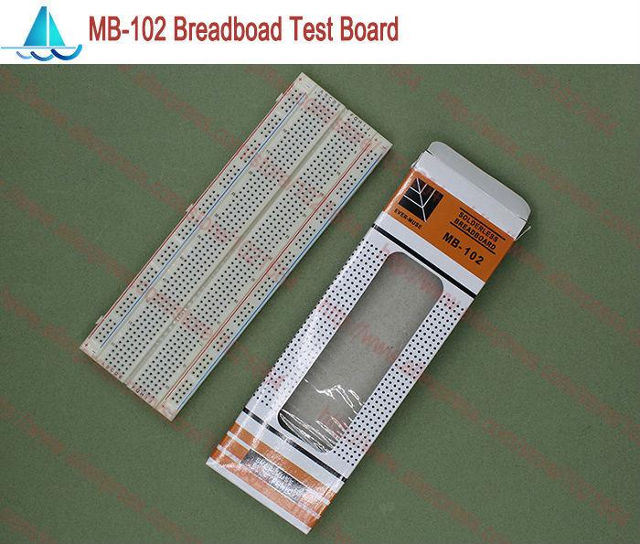 MB-102 Solderless Prototype Breadboard MB102 DIY Develop Test PCB pitch:2.54MM 830 Tie Point ProtoBoard