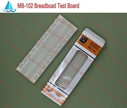 MB-102 solderless protótipo placa de pão mb102 diy desenvolver teste pcb passo: 2.54mm 830 laço ponto protoboard