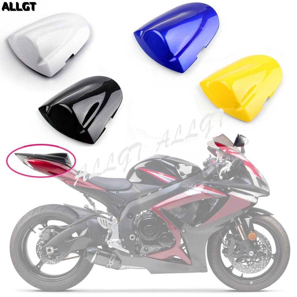 ALLGT Motorcycle Pillion Rear Passenger Seat Cowl Cover For Suzuki GSXR 600/750 2006 2007 K6 K7