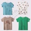 Pre-Order Middle Of March BoboChoses baby girlr Cotton short sleeve t-shirt Patterns Slide&JOHN&Basketball boys shirts Summer D*