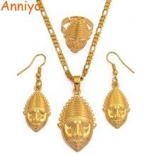 Anniyo png маска кулон/ожерелья/кольцо/серьги для женщин папуа