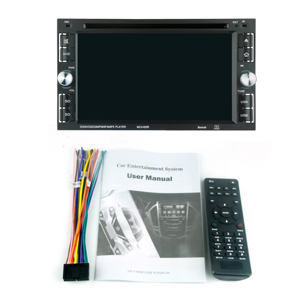 """Image 3 - 6205  Car DVD player 6.2"""" Car Autoradio Video/Multimedia MP5 Player mp4 Car Stereo audio player car dvd BT FM-in Car CD Player from Automobiles & Motorcycles"""