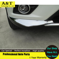 2PCS Chrome Front Bumper Corner Protection Cover Trim 2014 2016 For Nissan X Trail High Quality