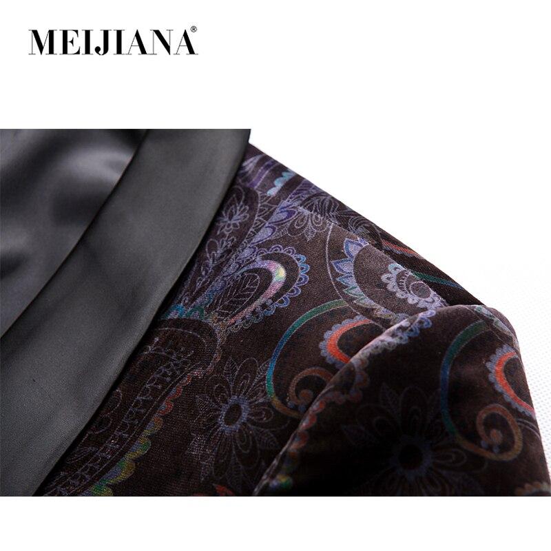 Bouton Performance Costume 2018 Automne Blazer Slim Vestes Fit Décontracté Arrivée Meijiana Hommes Dragon Mâle Un Style Noir Nouvelle Imprimer Printemps wXOIv