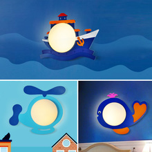 Modern art deco wall lamp creative pirate ship cartoon wood wall lamp for children room LED bedside lamp corridor lamps E27 new chinese spring flowers in full bloom painting chandelier coffee carved wood art e27 lamp for corridor