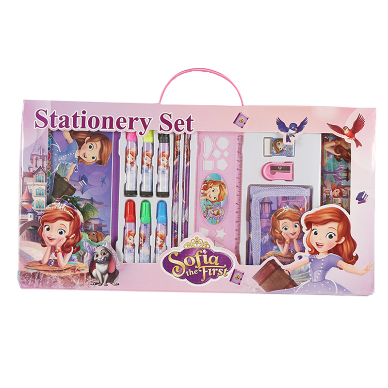 14pcs/set cartoon Sofia stationery set novelty kawaii students school supplies children back to school study high quality factors contributing to indiscipline among high school students